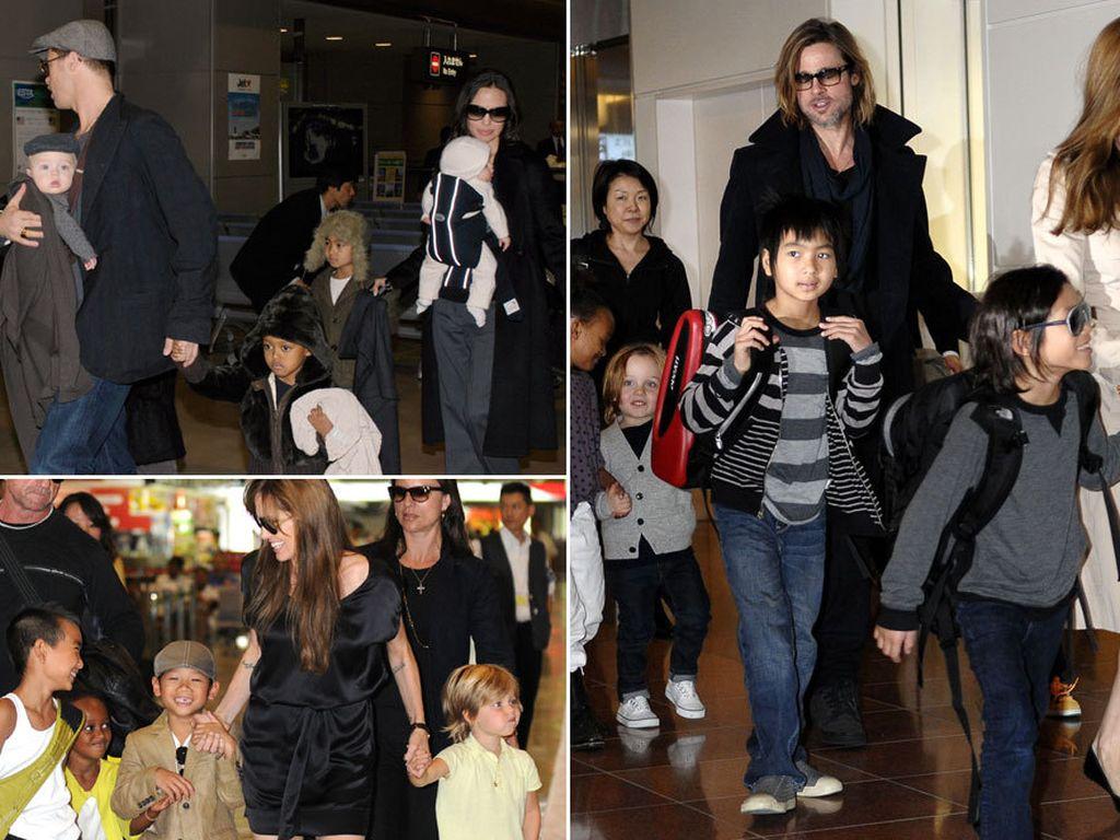 Angelina Jolie, Brad Pitt und ihre Kids über die Jahre