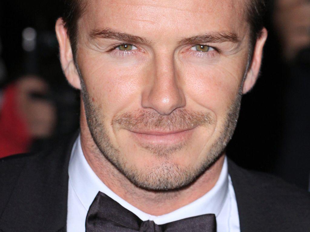 David Beckham: Nahaufnahme im Anzug