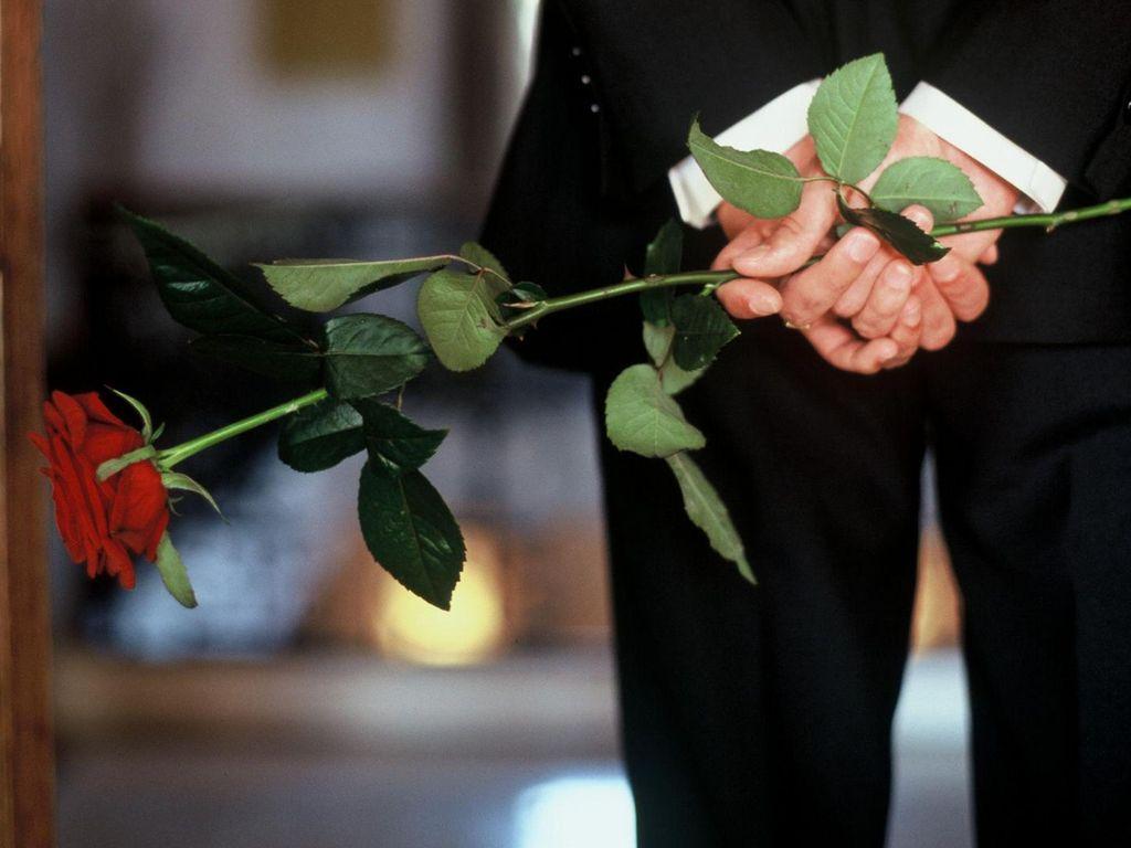 Der Bachelor mit Rosen
