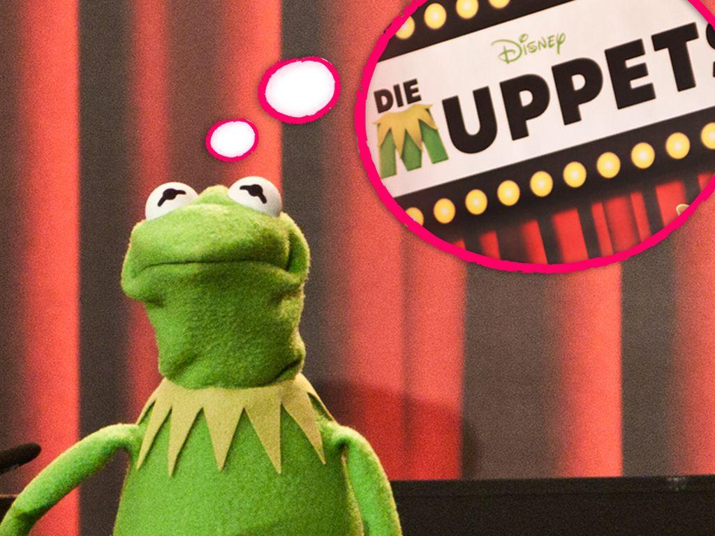 """Kermit gefällt der Slogan """"Die Muppets"""" nicht sonderlich gut"""