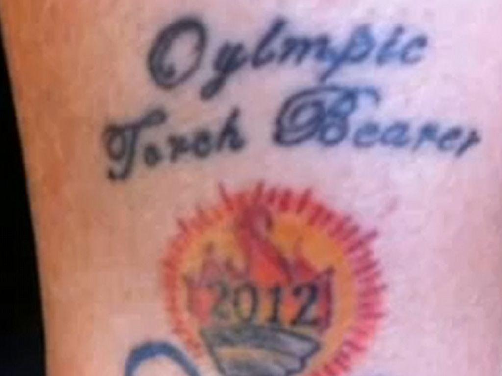 Olympia-Tattoo falsch geschrieben