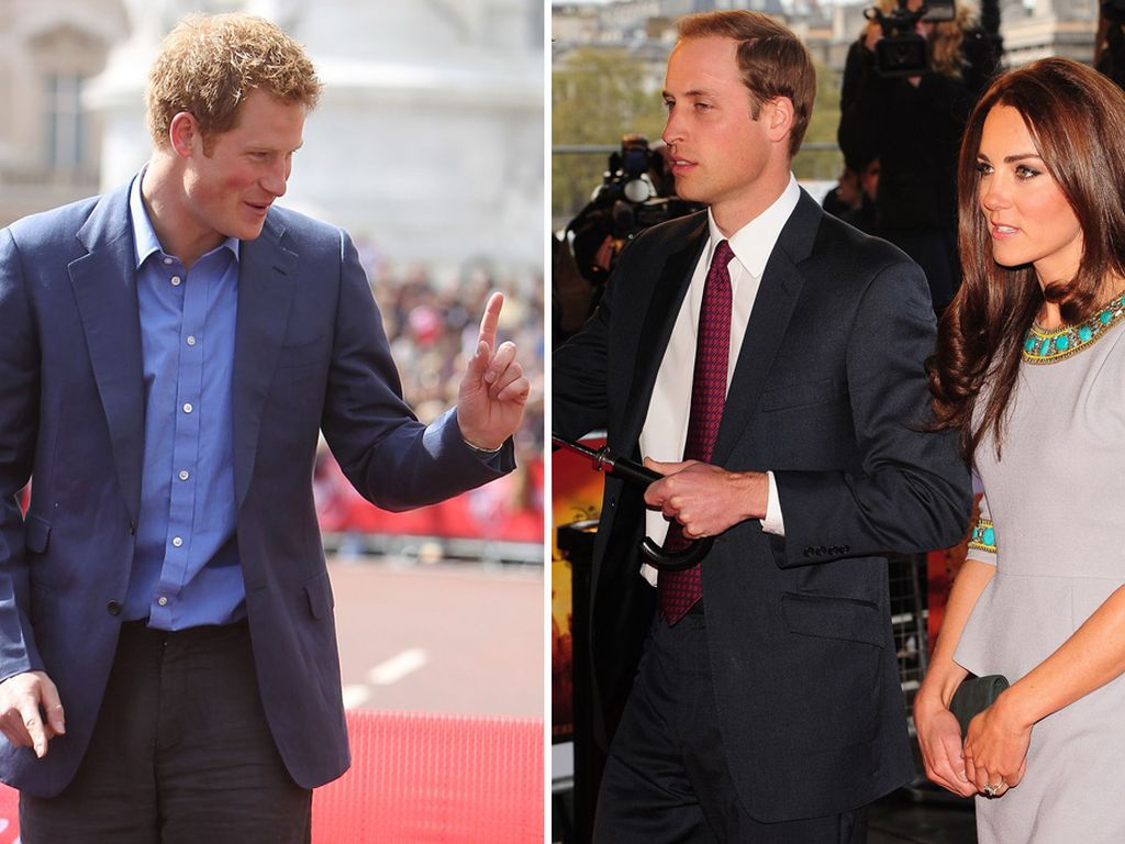 Prinz Harry, Prinz William und Herzogin Kate
