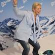 Claudia Effenberg auf einem Snowboard