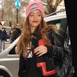 Rihanna trug eine Lederjacke von Chris Brown