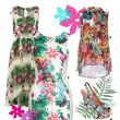 Muster mit Palmen und Blüten sind diesen Sommer total angesagt