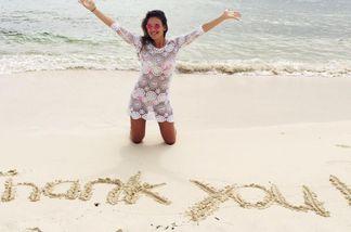 Janina Uhse bedankt sich bei ihren Fans