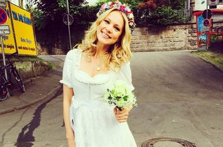 Hat Svenja Holtmann in diesem Kleid geheiratet?