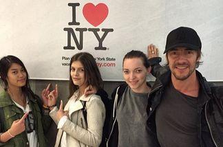 Thomas Hayo und die GNTM-Finalistinnen hatten Spaß in New York