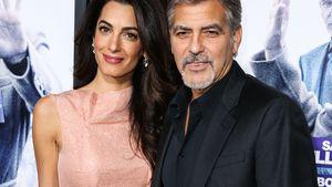 Amal und George Clooney Arm in Arm