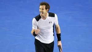 Andy Murray spielt Tennis