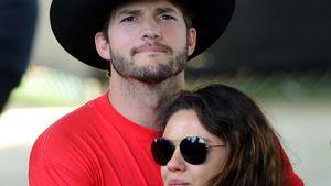 Ashton Kutcher und Mila Kunis umarmen sich