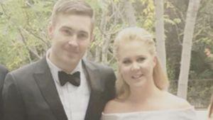 Ben Harnisch und Amy Schumer in ihren Golden-Globe-Outfits