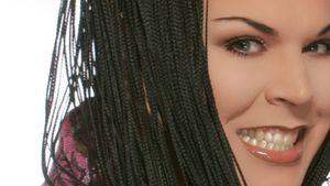 Bibi Kossmann mit geflochtenen Haaren
