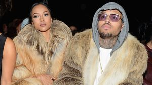 Chris Brown und Karrueche Tran bei einer Fashion Show