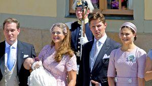 Chris O'Neill, Prinzessin Madeleine mit Leonore, Prinzessin Estelle und Mama Prinzessin Victoria