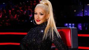 Christina Aguilera im Glitzerkleid bei The Voice