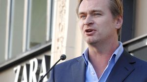 Christopher Nolan am Redner-Pult