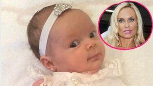 Coco Austins Tochter Chanel hat Ohrringe in einer Collage
