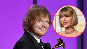 Ed Sheeran und Taylor Swift in einer Collage