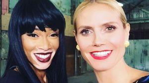 Heidi Klum und Winnie Harlow machen ein Selfie