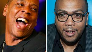 Jay-Z und Timbaland in einer Collage (fröhlich)
