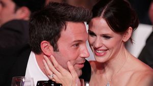 Jennifer Garner und Ben Affleck Backstage