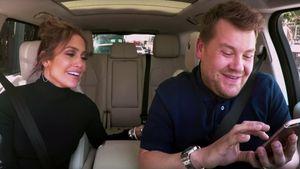 Jennifer Lopez und James Corden im Auto