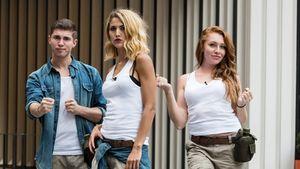 Joey, Fiona und Georgina beim Sommer-Dschungelcamp
