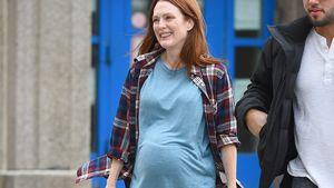 Julianne Moore mit Babybauch