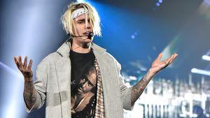 Justin Bieber schaut etwas grimmig