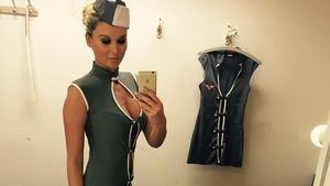 Katja Kühne Stewardess