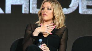 Khloe Kardashian guckt schockiert