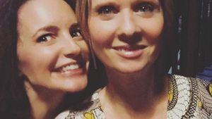 Kristin Davis und Cynthia Nixon machen ein Selfie