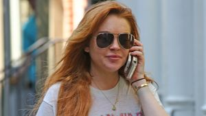 Lindsay Lohan mit Jeansshorts