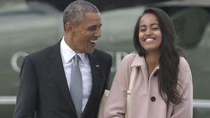 Malia Obama Und Barack Obama