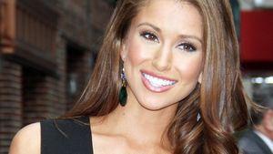 Miss USA 2014 Nia Sanchez in einem schwarzen Kleid