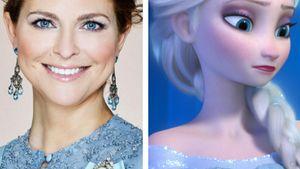 """Prinzessin Madeleine und """"Frozen""""-Elsa in einer Collage"""