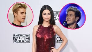 Selena Gomez mit Justin Bieber und Niall Horan in einer Collage