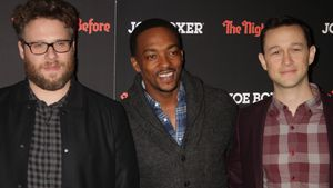 Seth Rogen, Anthony Mackie und Joseph Gordon-Levitt bei Screening