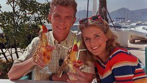 Stefanie Hertel und Stefan Mross in den 90er Jahren mit Cocktail