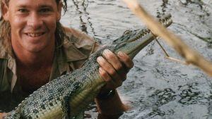 Steve Irwin mit Krokodil