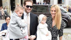 Tomaso Trussardi und Michelle Hunziker mit ihren Töchtern Sole und Celeste
