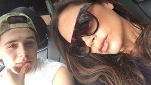 Victoria Beckham mit Brooklyn im Auto