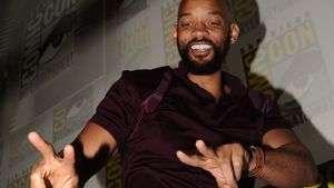 Will Smith zeigt Peace