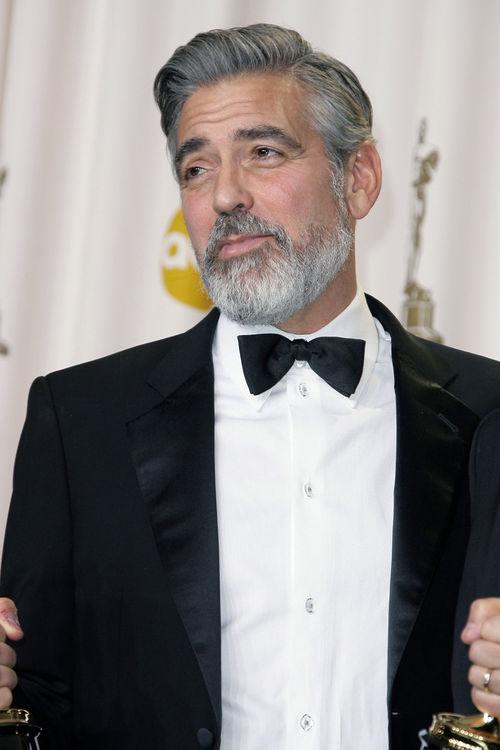 George Clooney zeigte sich bei den Oscars im bärtigen Look