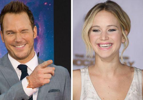 Bei Dreharbeiten haben Chris Pratt und Jennifer Lawrence einen witzigen Kurzfilm gedreht