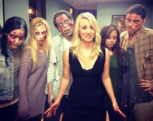 Kaley Cuoco arbeitete mit Zombies!