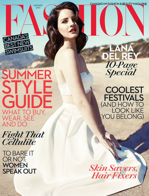 Lana Del Rey ziert aktuell das Cover vom Fashion Magazine in Kanada