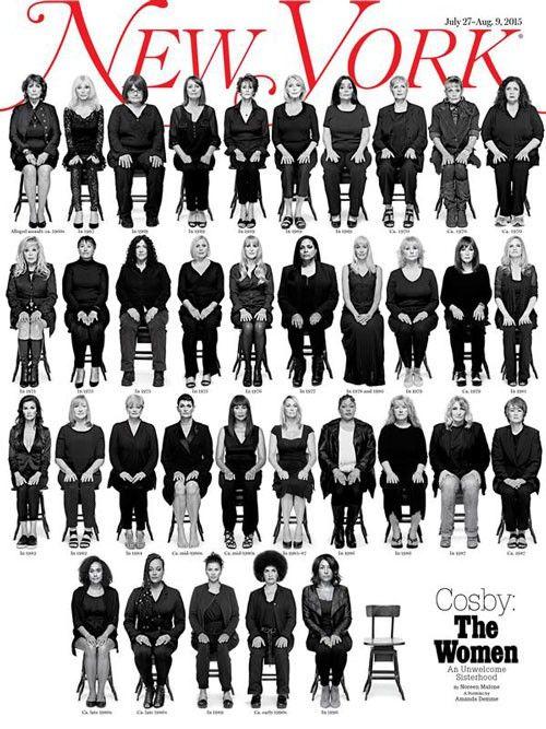 Das New York Magazin zeigt auf seinem Cover 35 von 46 Frauen, die Vorwürfe gegen Bill Cosby erheben