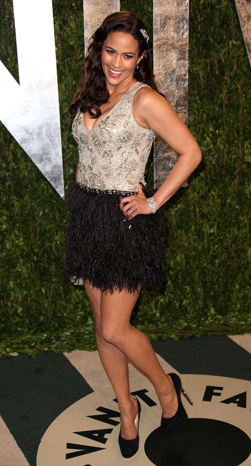 Paula Patton entschied sich für ein kurzes Kleid für die Vanity-Fair-Oscar-Party